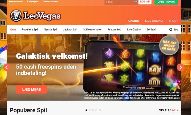 leovegas dk casino lobby og free spins