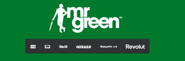 mr green udvalg af udbetalingsmetoder