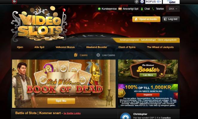videoslots denmark casino